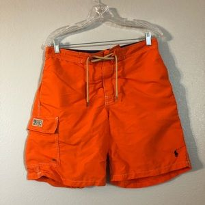 Polo Ralph Lauren Orange Swim Trunk Shorts